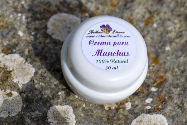 Crema natural para manchas faciales y corporales